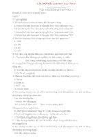 CÂU HỎI BÀI TẬP NGỮ VĂN THCS (6,7,8,9)
