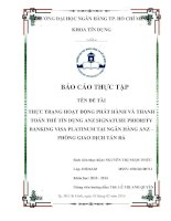 báo cáo thực tập tại ngân hàng ANZ phòng giao dich  tản đà
