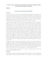 TUYỂN TẬP CÁC BÀI LUẬN TIẾNG ANH MẪU THEO CHỦ ĐỀ ÔN THI THPT QUỐC GIA 2015