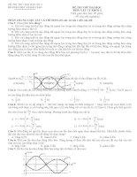 Đề và đáp án thi thử ĐH môn Vật lý 2011(số 4)