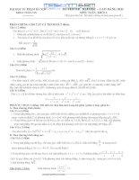 Đề và đáp án thi thử ĐH môn Toán 2011