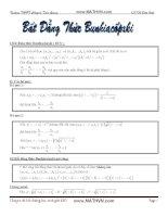 Bất đẳng thức Bunhiacopxki và ứng dụng trong hình học