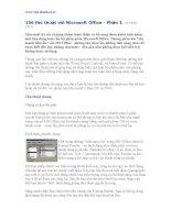 106 thủ thuật Microsoft Word