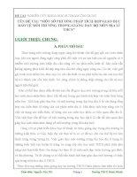 MỘT SỐ PHƯƠNG PHÁP TÍCH HỢP GIÁO DỤC BẢO VỆ MÔI TRƯỜNG TRONG GIẢNG DẠY BỘ MÔN ĐỊA LÍ