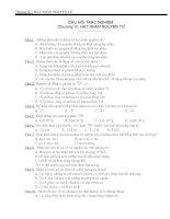Bài tập chương 7. Vật lý hạt nhân