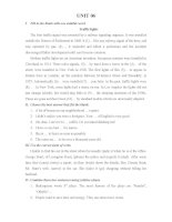 Bài tập bổ trợ và nâng cao tiếng Anh - Unit 06
