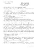 Đề và đáp án thi thử ĐH môn Vật lý 2011(số 2)