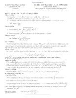 Đề và đáp án thi thử ĐH môn Toán 2011 ĐHSP HN