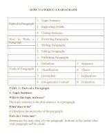 Tài liệu hướng dẫn làm bài tự luận Tiếng Anh kỳ thi THPT Quốc gia 2015 cực hay