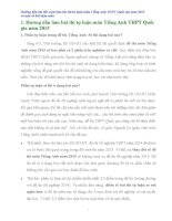 Hướng dẫn chi tiết cách làm bài thi tự luận môn Tiếng Anh THPT Quốc gia năm 2015 và một số bài luận mẫu
