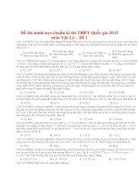 ĐỀ MINH HỌA ĐẶC BIỆT KÌ THI THPT QUỐC GIA 2015 CÓ LỜI GIẢI CHI TIẾT
