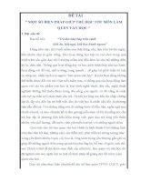 SÁNG KIẾN KINH NGHIỆM VĂN HỌC MỘT SỐ BIỆN PHÁP GIÚP TRẺ HỌC TỐT MÔN LÀM QUEN VĂN HỌC