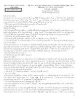 2 đề thi học sinh giỏi môn Lý 9 và đáp án tham khảo