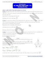 Bài tập về thể tích khối chóp