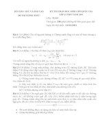 Đề thi HSG toán Quốc gia (năm 2011) ngày thứ 1