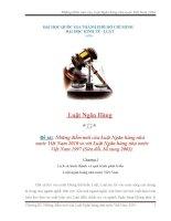 Những điểm mới của Luật Ngân hàng nhà nước Việt Nam 2010