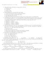 Bài tập trắc nghiệm Fe và Cu