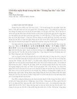 Chất liệu nghệ thuật trong bài thơ Hoàng hạc lâu của Thôi Hạo