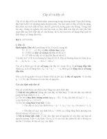 Lí thuyết và bài tập về cấp số dãy số