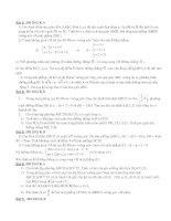 Bài toán Hình học trong các đề thi ĐH