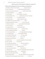Bài tập về Danh động từ và Động từ nguyên thể.doc