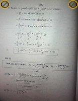 Tích phân lượng giác P5