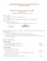 bộ đề thi kiểm tra các học kỳ THCS
