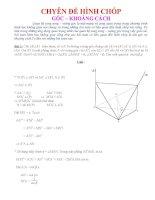 Chuyên đề hình chóp góc và khoảng cách