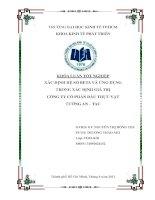 Xác định hệ số beta và ứng dụng trong xác định giá trị công ty cổ phần dầu thực vật Tường An - TAC ( Chuyên đề tốt nghiệp TP.HCM  Trường Đại Học Kinh Tế, 2013 )