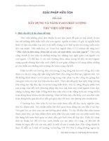 Sáng kiến kinh nghiệm XÂY DỰNG VÀ NÂNG CAO CHẤT LƯỢNG  THƯ VIỆN LỚP HỌC