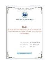 Áp dụng phương pháp so sánh để thẩm định giá tài sản bảo đảm cho mục đích thế chấp tại Ngân hàng TMCP Quân đội