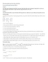Vật Lí 10 -Phương pháp giải bài tập chất khí