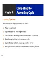 Financial accounting chapter 04 completing the accounting cycle