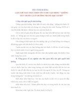 BÀI DỰ THI LIÊN MÔN LÀM THẾ NÀO THỰC HIỆN TỐT CUỘC VẬN ĐỘNG  KHÔNG HÚT THUỐC LÁ Ở TRƯỜNG TRUNG HỌC CƠ SỞ