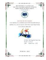 Tác động của chính sách tiền tệ đến hoạt động của ngân hàng thương mại Việt Nam giai đoạn 2008 - 2012 ( Chuyên đề tốt nghiệp Trường Đại Học Kinh Tế )