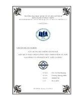 Xây dựng hệ thống đánh giá kết quả thực hiện công việc theo công cụ KPI tại Công ty Cổ phần Hữu Liên Á Châu