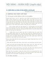 Tuyển tập bài giảng, đề và bài làm văn  Vội vàng (xuân diệu)