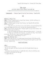 Đề luyện thi tuyển sinh vào lớp 10 Chuyên đề : Chuyện người con gái Nam Xương.