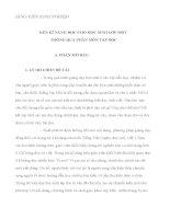 Sáng kiến kinh nghiệm MỘT SỐ KINH NGHIỆM RÈN KĨ NĂNG ĐỌC CHO HỌC SINH LỚP MỘT THÔNG QUA PHÂN MÔN TẬP ĐỌC