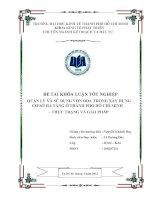 Quản lý và sử dụng vốn ODA trong xây dựng cơ sở hạ tầng ở Thành phố Hồ Chí Minh - thực trạng và giải pháp