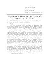 TIM HIEU 80 NĂM LỊCH SỬ VẺ VANG ĐOÀN THANH NIÊN CS HỒ CHÍ MINH