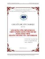 Xây dựng tiêu chí đánh giá chất lượng giảng viên nội bộ Ngân hàng TMCP Sài Gòn Thương Tín - Sacombank