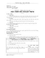 Tiết 49 - Học toán với Toolkit math (t1)