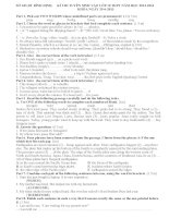 thi tuyển sinh tiếng anh lớp 10, bình định 2013 (with key)