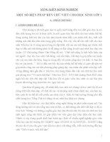 SÁNG KIẾN KINH NGHIỆM MỘT SỐ BIỆN PHÁP RÈN CHỮ VIẾT CHO HỌC SINH LỚP 1