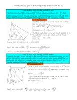 hình học không gian cổ điển trong kì thi tuyển sinh đại học