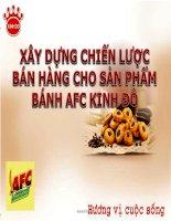 Bài thuyết trình Lập kế hoạch Marketing cho sản phẩm bánh Cracker AFC Kinh Đô