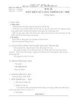 Bai 24. Dot bien so luong nhiem sac the(tiep theo)