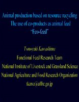 Animal production based on resource recycling - The use of co-products as animal feed