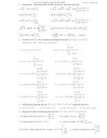 Các công thức toán 10(NC) cần nhớ